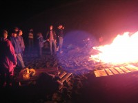 Fall Bonfire 2008, Middle Cove Beach