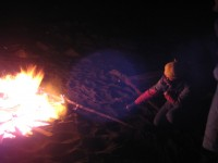 Fall 2008 Bonfire on Middle Cove Beach
