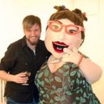 VANL's Program Coordinator poses with artist Cindy Baker