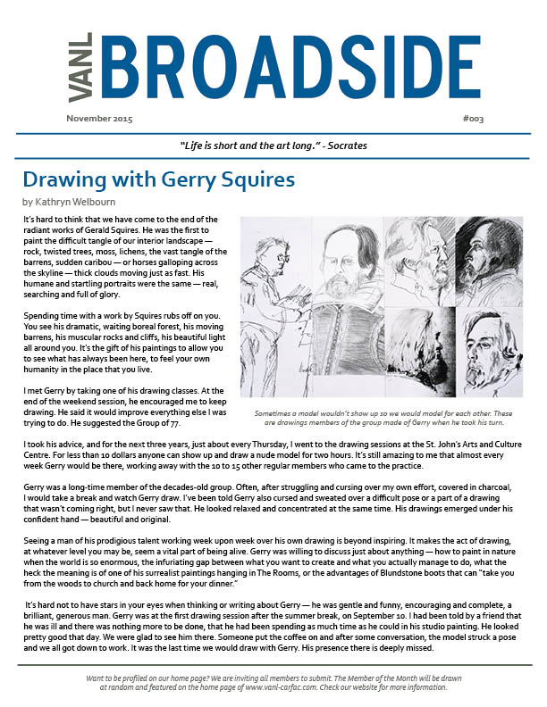 VANL Broadside Nov 2015 - Gerry Squires (Socrates)